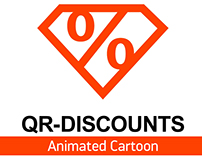 "Animated Cartoon about company ""QR-Discounts"""