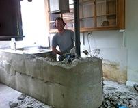 Making a concrete kitchen