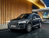 Audi Q7 in the Skolkovo Innovation Center