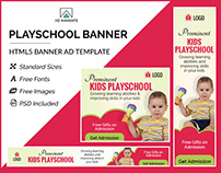 Kids Playschool Banner - HTML5 Ad Template