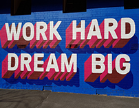 Work Hard. Dream Big -- GHPS Mural