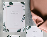 Wedding Stationery | Marie & Lukas