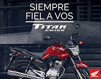 """AD Campaña Honda Titan: """"Siempre fiel a vos"""""""