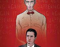 """It is happening again."" Twin Peaks poster"