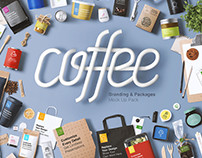 Coffee Branding & Packages Mock Up