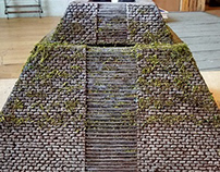 Miniature Mayan Pyramid Construction