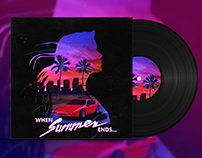 When Summer Ends - Synthwave Album Cover