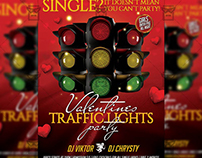 Traffic Lights Party - Seasonal A5 Flyer Template
