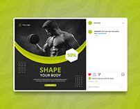 Gym Social Media Banner Design
