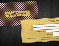 Gold Gift Voucher | Card Template