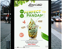 ice cream promotion poster design