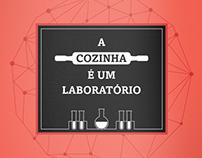 """Capa para livro """"A cozinha é um laboratório"""""""