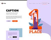 Generic Landing Page Design w Modern Style Figure