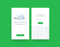 Food delivery app - Login page