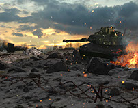 Battle scene compositing test