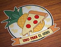 Pizza + Piña: Uno para el otro