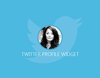 Twitter Profile Widget