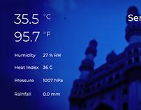 Time responsive Weather Widget Design for a website