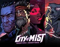 City of Mist Characters SET 1