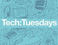 Tech:Tuesdays Flyer Design for Brighter Sound