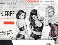 Black Label Lingerie. A custom Shopify theme.