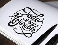 Lettering Logo. Todo es mejorable