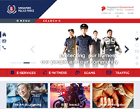 Singapore Police Force Website Redesign