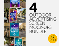 4 Outdoor Ad Screen Mock-Ups Bundle 3