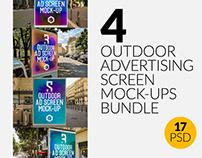 4 Outdoor Ad Screen Mock-Ups Bundle 3