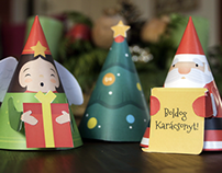 Free Paper Christmas Figures