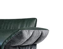 Cierre Eva Due armchair swivel star base 3d model