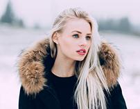 Maren in the snow