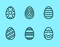 Easter Icons | Line Icon Set Download