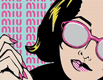 Miu Miu Pop Art Mock Magazine Ads