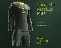Soccer Kit Mockup PSD