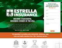 Estrella Insurance Franchise Landing Page Development