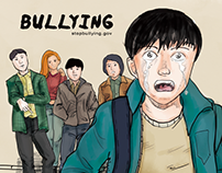 school bullying illustration