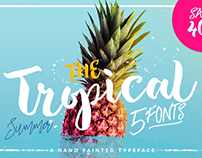 The Tropical - 5 Fonts - 40% OFF