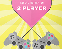 Retro Style 2 Player Poster