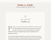Psalm 23, Etude - A Poetic Analysis of Faith in God