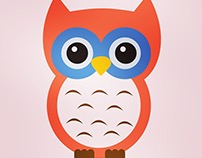Owl - A very Simple Flat Illustration