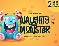 FREE | Naughty Monster Unique Hand drawn Font
