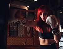 MMA girl - Teresa Klajmon - 2020 - boks and gym session