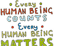 Human Rights - Lettering