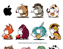 Mac Book Sticker_Angry Animals
