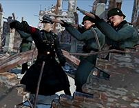 Nazi soldiers stylized