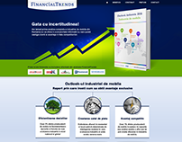FINANCIALTRENDS landing page - Financial analysis