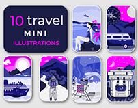 Travel Mini Illustrations