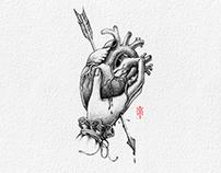 ILLUSTRATION: PIERCED HEART