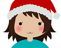 Profile illustrations for Christmas